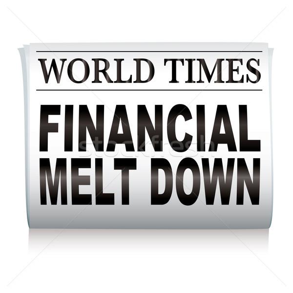 újság pénzügyi kredit válság főcím fehér Stock fotó © nicemonkey