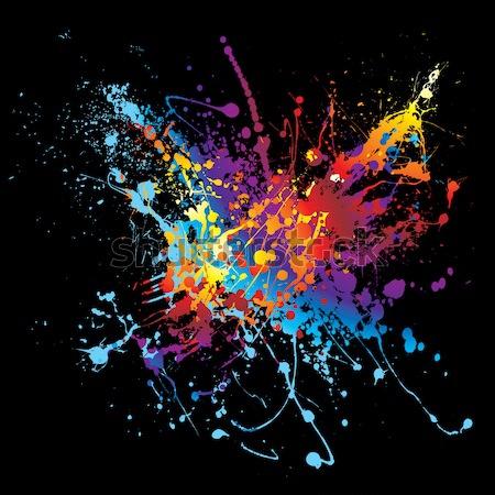 paint splat rainbow black Stock photo © nicemonkey