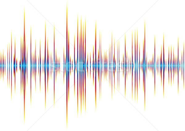 Alfa arco-íris abstrato música gráfico equalizador Foto stock © nicemonkey