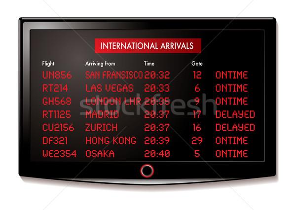 Lcd aeroporto internazionali volo display bordo Foto d'archivio © nicemonkey