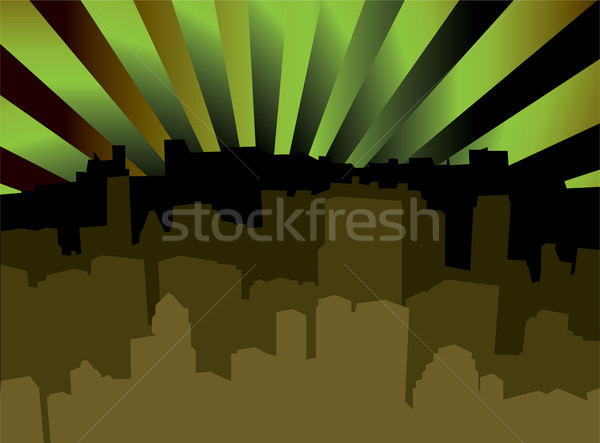 city scape shady Stock photo © nicemonkey