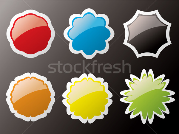 glass buttons outlined Stock photo © nicemonkey