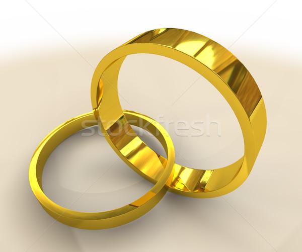 обручальными кольцами два свадьба вместе металл Сток-фото © nicemonkey