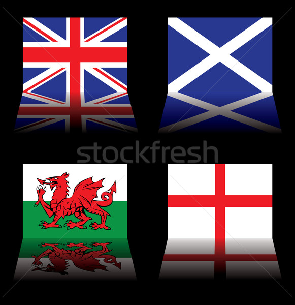 great britain flags Stock photo © nicemonkey