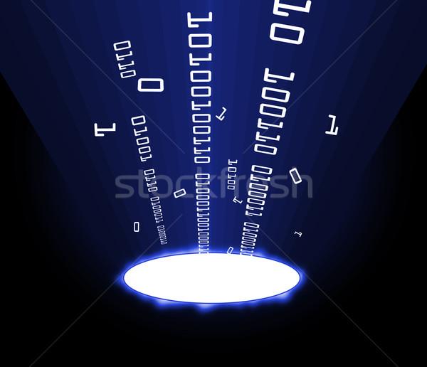 Információ porta kék mutat internet absztrakt Stock fotó © nicemonkey