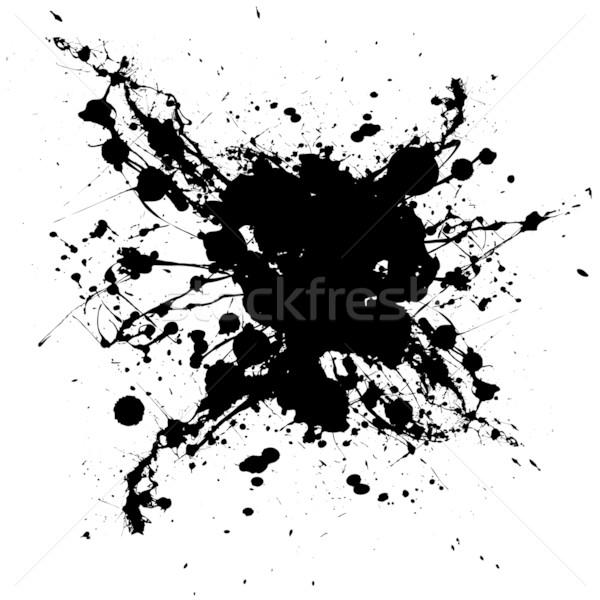 inky black splat Stock photo © nicemonkey