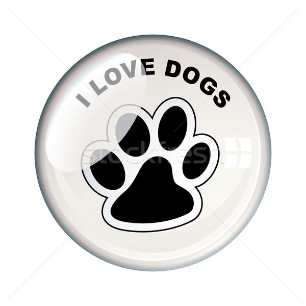 I love dogs badge Stock photo © nicemonkey