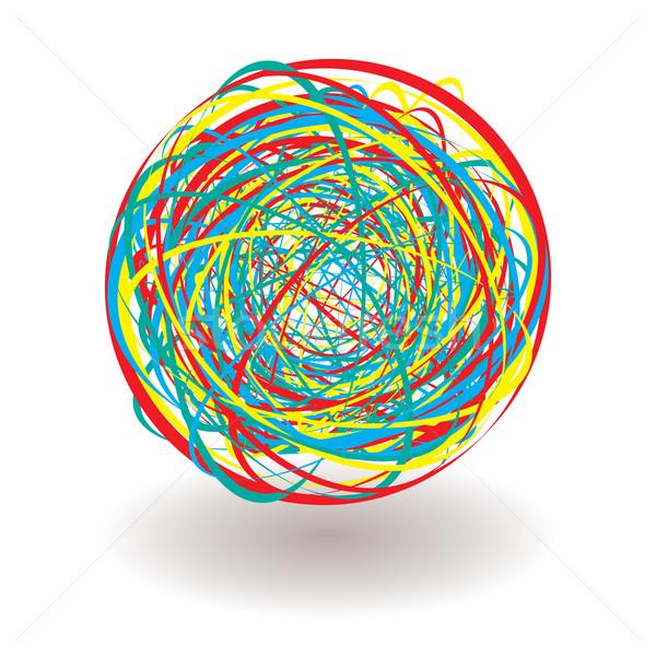 elastic band tangle icon Stock photo © nicemonkey