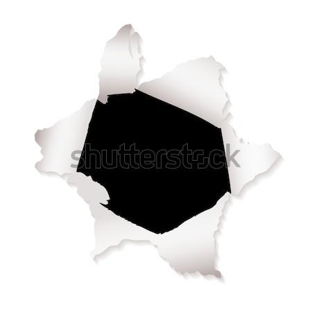 paper hole explode Stock photo © nicemonkey