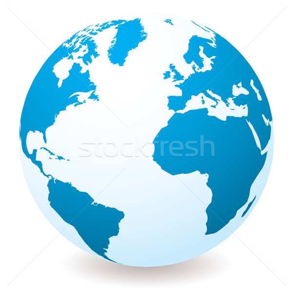 light blue globe Stock photo © nicemonkey