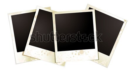Polaroid gyűjtemény négy fényképek film fekete Stock fotó © nicemonkey