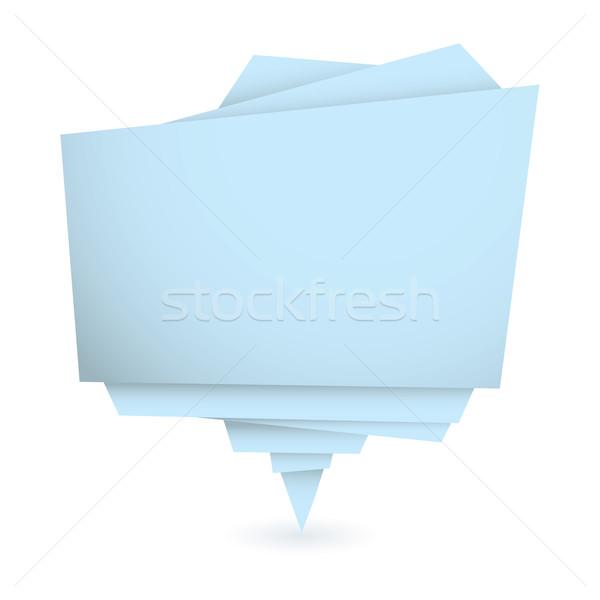Origami mavi bo kâğıt soyut Stok fotoğraf © nicemonkey