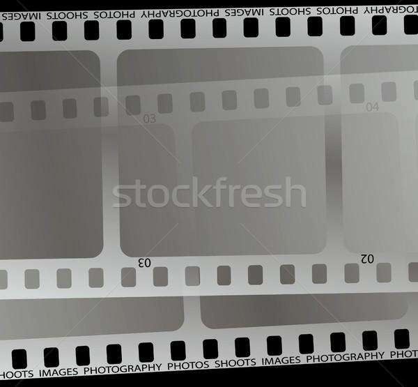 Film vág közelkép darab fekete film Stock fotó © nicemonkey