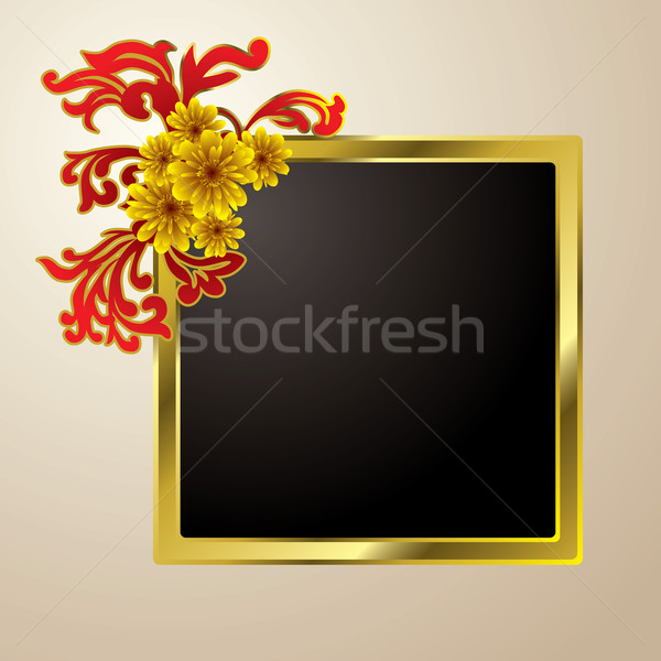 floral picture frame Stock photo © nicemonkey