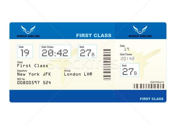 Repülőgép jegy első osztály beszállás passz uticél Stock fotó © nicemonkey