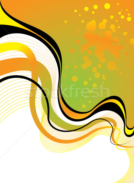 Queimadura de sol floral verde laranja abstrato Foto stock © nicemonkey