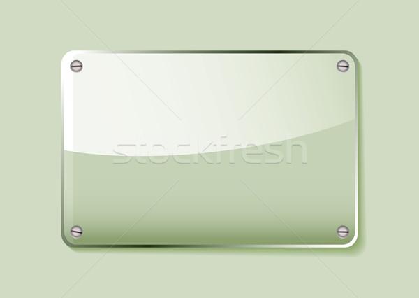 Green glass name tag Stock photo © nicemonkey