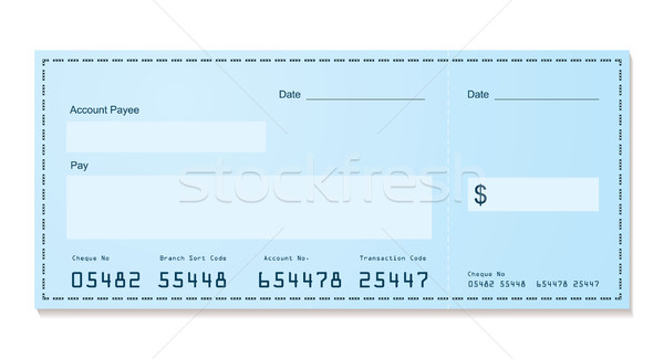 Bank cheque oude stijl Blauw dollar Stockfoto © nicemonkey