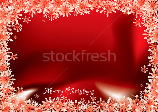 christmas red flake Stock photo © nicemonkey