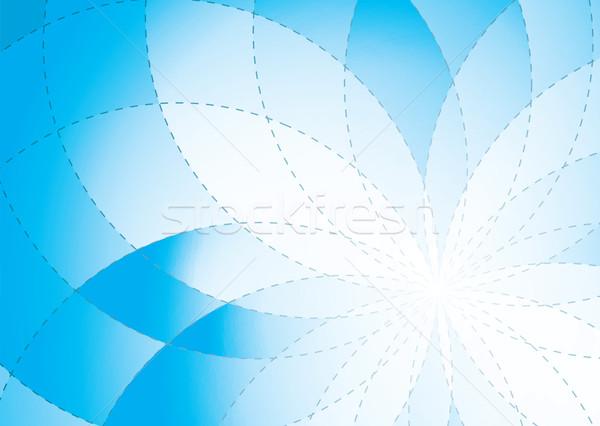 floral radiate background blue Stock photo © nicemonkey