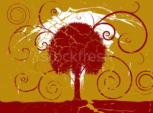 Grunge fa gesztenyebarna arany szett repedt Stock fotó © nicemonkey