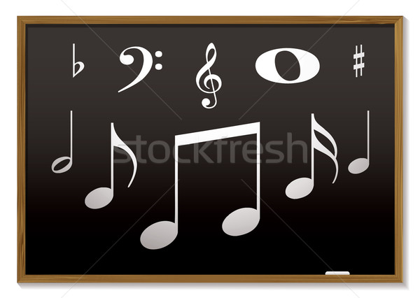 Musicale lavagna musica lezione note musicali scuola Foto d'archivio © nicemonkey