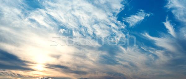 Hemel wolken zon blauwe hemel witte abstract Stockfoto © Nickolya