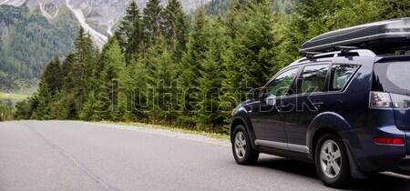 Auto weg alpen zomer tijd Stockfoto © Nickolya