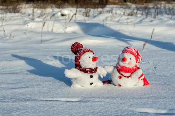Paar hand hemel man ijs Stockfoto © Nickolya