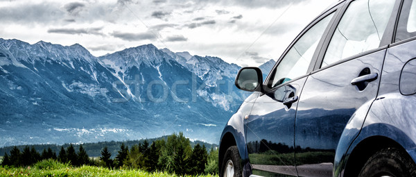 Auto berg weg familie natuur Stockfoto © Nickolya