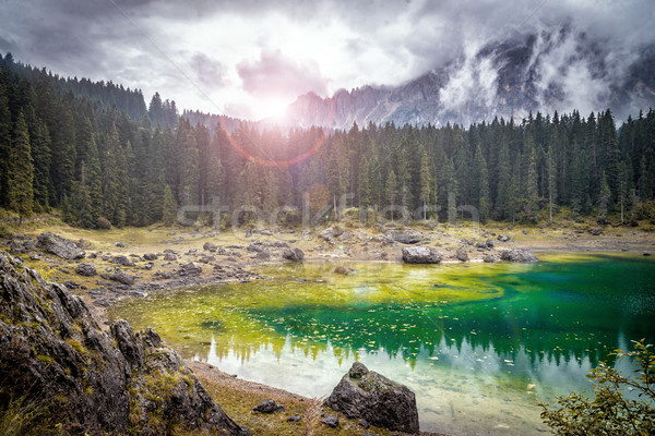 Berg meer park Europa Italië water Stockfoto © Nickolya