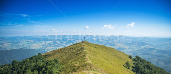 Bergen mooie landschap zomer hemel gras Stockfoto © Nickolya