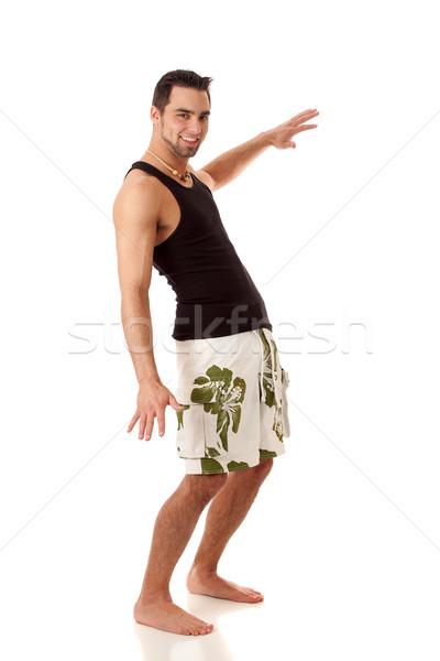 çekici genç beyaz adam mayo adam Stok fotoğraf © nickp37