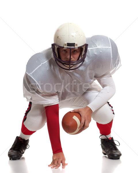 Amerikaanse voetballer man sport team spel Stockfoto © nickp37