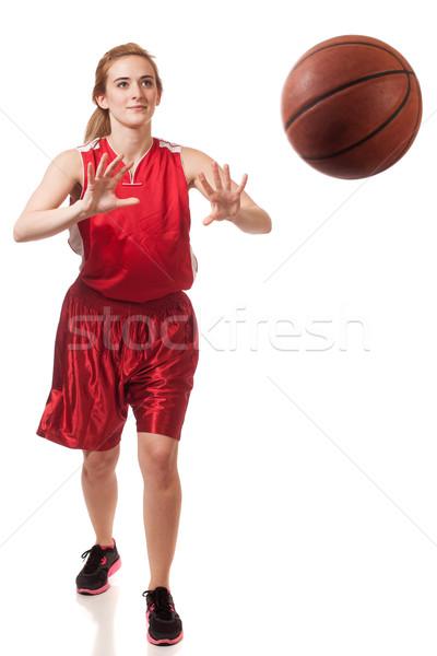 Weiblichen weiß Sport Sport Stock foto © nickp37
