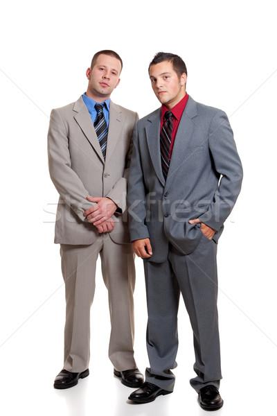 Jovem empresários negócio homens terno amarrar Foto stock © nickp37