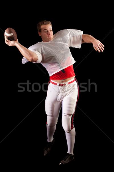 Americano preto homem esportes Foto stock © nickp37