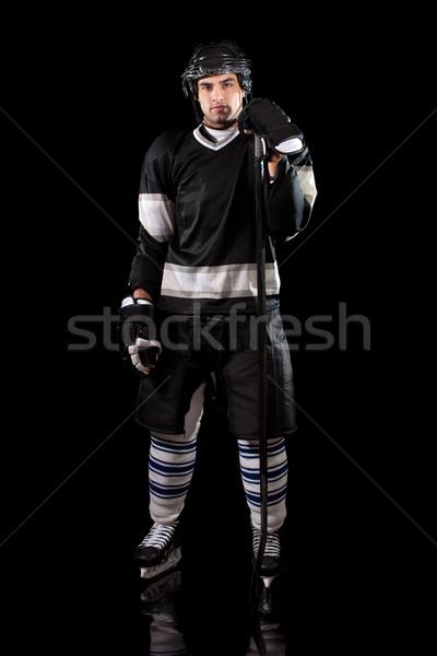 игрок черный человека Сток-фото © nickp37