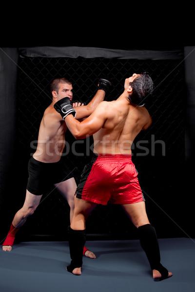 Karışık kavga spor kas erkek ayakta Stok fotoğraf © nickp37