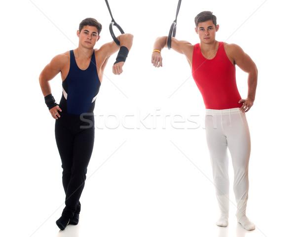 мужчины белый спорт мужчин Сток-фото © nickp37