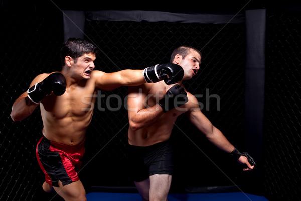 Karışık kavga spor kas kavga erkek Stok fotoğraf © nickp37