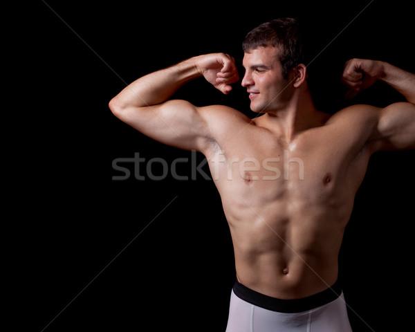 спортивный молодым человеком черный человека здорового Сток-фото © nickp37