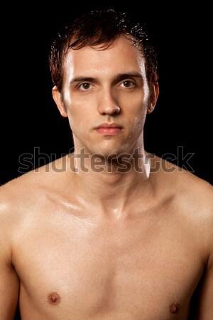 Pływak mężczyzna czarny człowiek Zdjęcia stock © nickp37