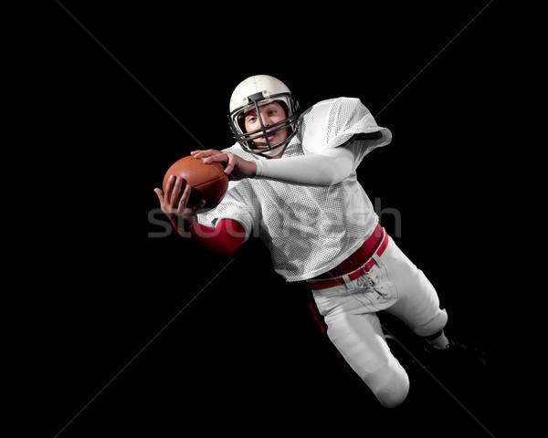 Americano homem esportes futebol saltar Foto stock © nickp37