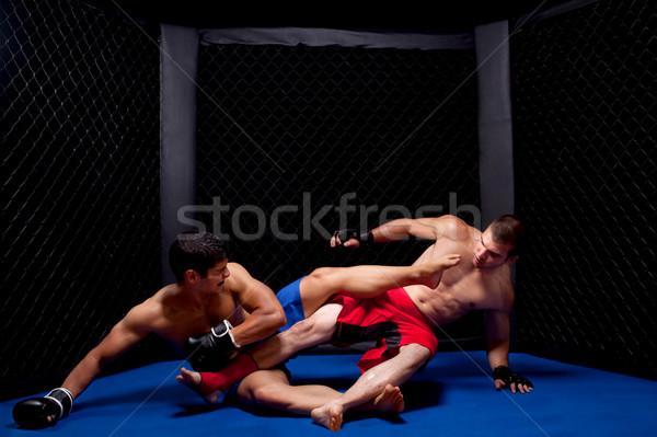 Gemengd sport mannen pijn bokser vechtsporten Stockfoto © nickp37