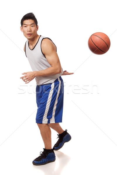 Сток-фото: мужчины · белый · спортивных · мяча