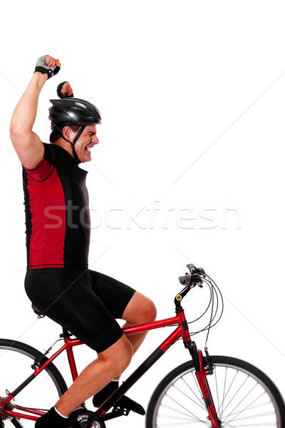 Stock photo: Cyclist Riding Bike