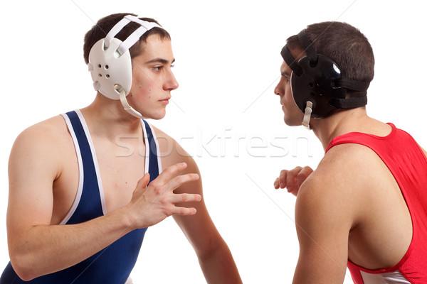 2 男性 白 スポーツ 青 ストックフォト © nickp37