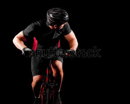 Cyclist Riding Bike Stock photo © nickp37