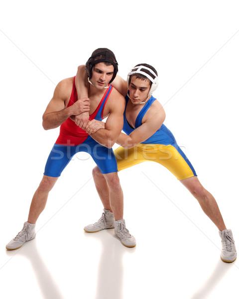 Iki erkek beyaz spor spor Stok fotoğraf © nickp37